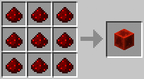 Crafting Blok Redstone