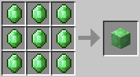 Crafting Emerald Block