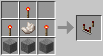 Crafting Redstone Comparator