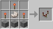 Crafting Redstone Comparator