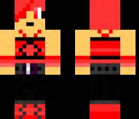 Red hipster chick Minecraft Skin