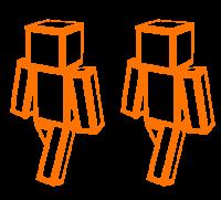 Orange box man skin