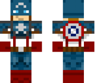 Captain America Minecraft Skin