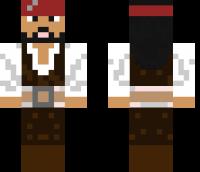Jack Sparrow Minecraft Skin