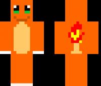 Charmander Minecraft Skin