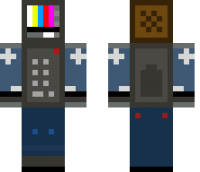 TV man Minecraft Skin