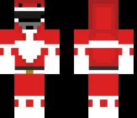 Red Ranger Minecraft Skin