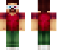 3D Glasses Minecraft Skin