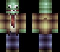 Plants vs. Zombies Minecraft Skin