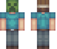Creeper Mask Minecraft Skin