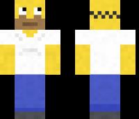 Homer Simpson Minecraft Skin Download