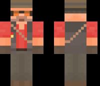 TF2 Sniper Minecraft Skin