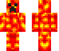Lava Creeper Minecraft Skin