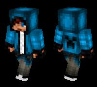 Blue Hoodie Teen skin