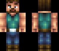 Manly Steve Minecraft Skin