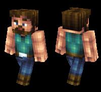 Manly Steve skin