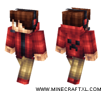 Red Creeper Hoodie skin