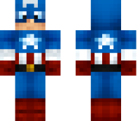 Captain America 2 Minecraft Skin