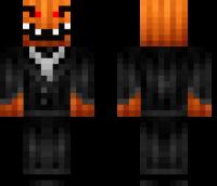 Pumpkin Monster Minecraft Skin