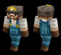 Realistic Miner skin