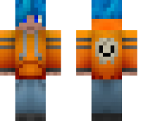Orange Hoodie Teenager Minecraft Skin