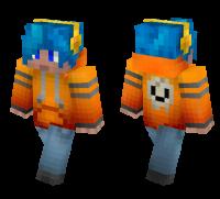 Orange Hoodie Teenager skin