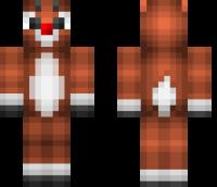 Rudolph Reindeer Minecraft Skin