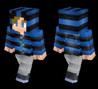 Teen Striped Hoodie skin