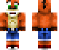 Crash Bandicoot HD Minecraft Skin