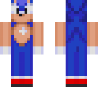 Sonic the Hedgehog Minecraft Skin