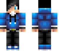 Blue Teenager Minecraft Skin