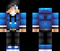 Blue Teenager Minecraft Skin