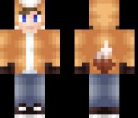 Fox Hoodie Minecraft Skin