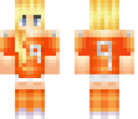 Female Netherlands Fan Minecraft Skin