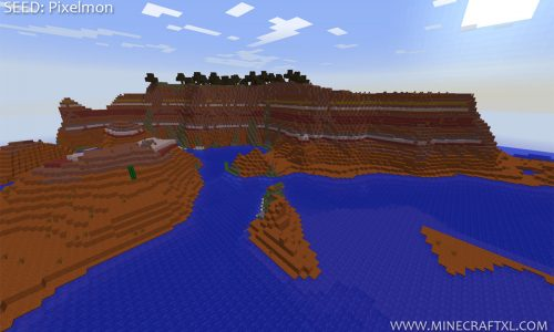 Minecraft 1.7.2 Mesa Biome Spawn Seed: Pixelmon