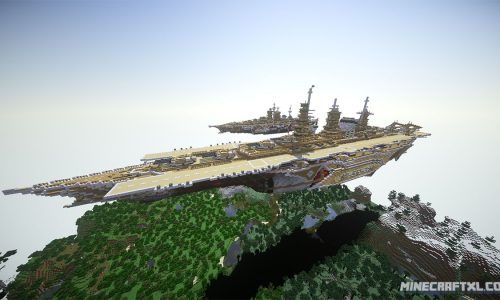 Airborne Battlecarrier Map for Minecraft 1.7/1.6