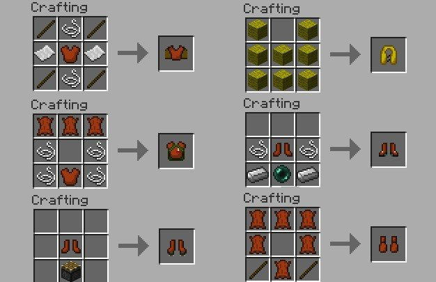 Armor Movement Mod crafting recipes