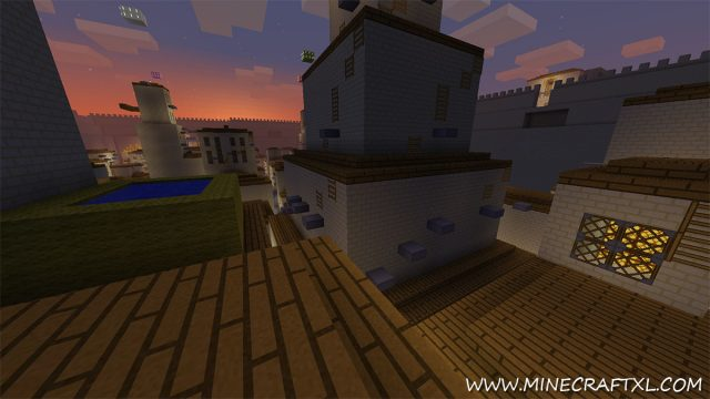 Assassins Creep Parkour Map for Minecraft