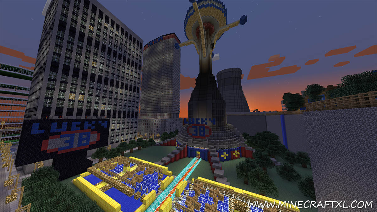 Best World Ever CreativeSurvival Map Download for Minecraft 17216