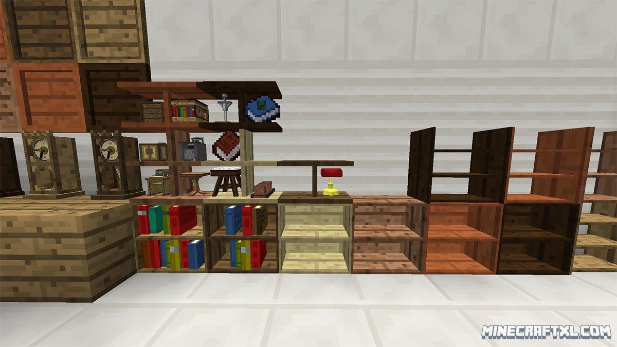 Bibliocraft mod download for minecraft 1 for Furniture mod 1 10 2