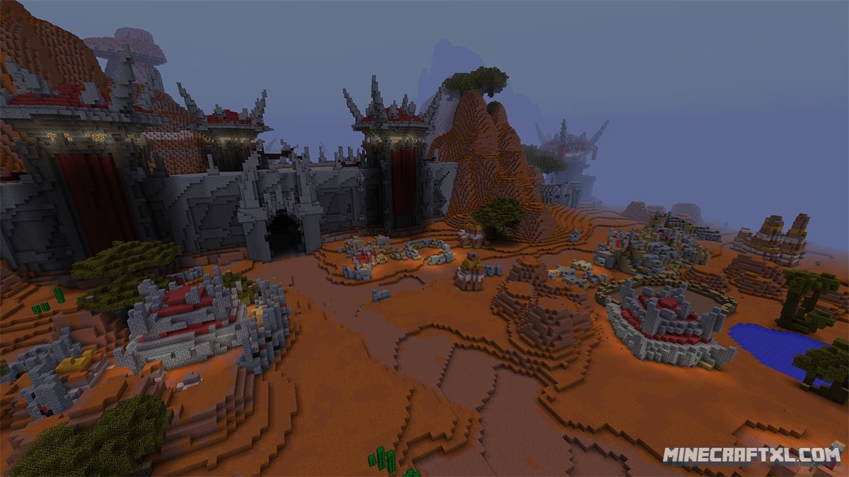 Crafting Azeroth Map Download for Minecraft 1.8/1.7