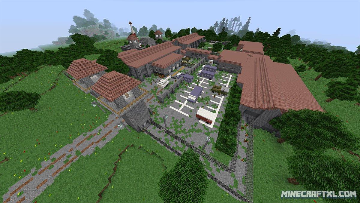 Dead prison 2 map download for minecraft 1 8 for Crafting dead server download