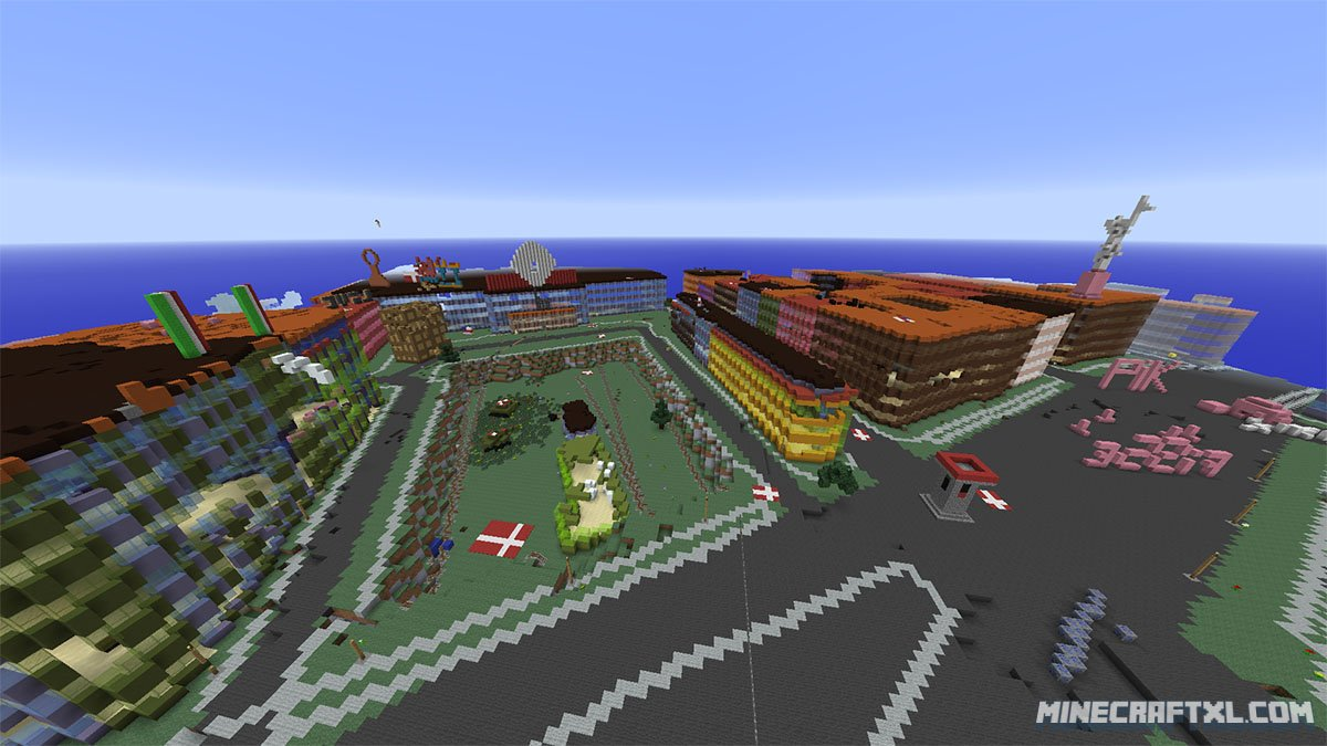 denmark the whole country recreated as a 1 1 scale minecraft map