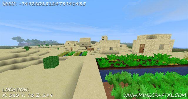 Minecraft Desert Village Seed