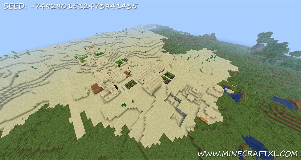 Minecraft village seed 1376117 2 minecraft village seed 2 diamonds