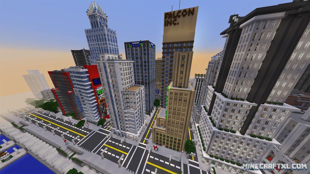 скачать карту города на майнкрафт #11