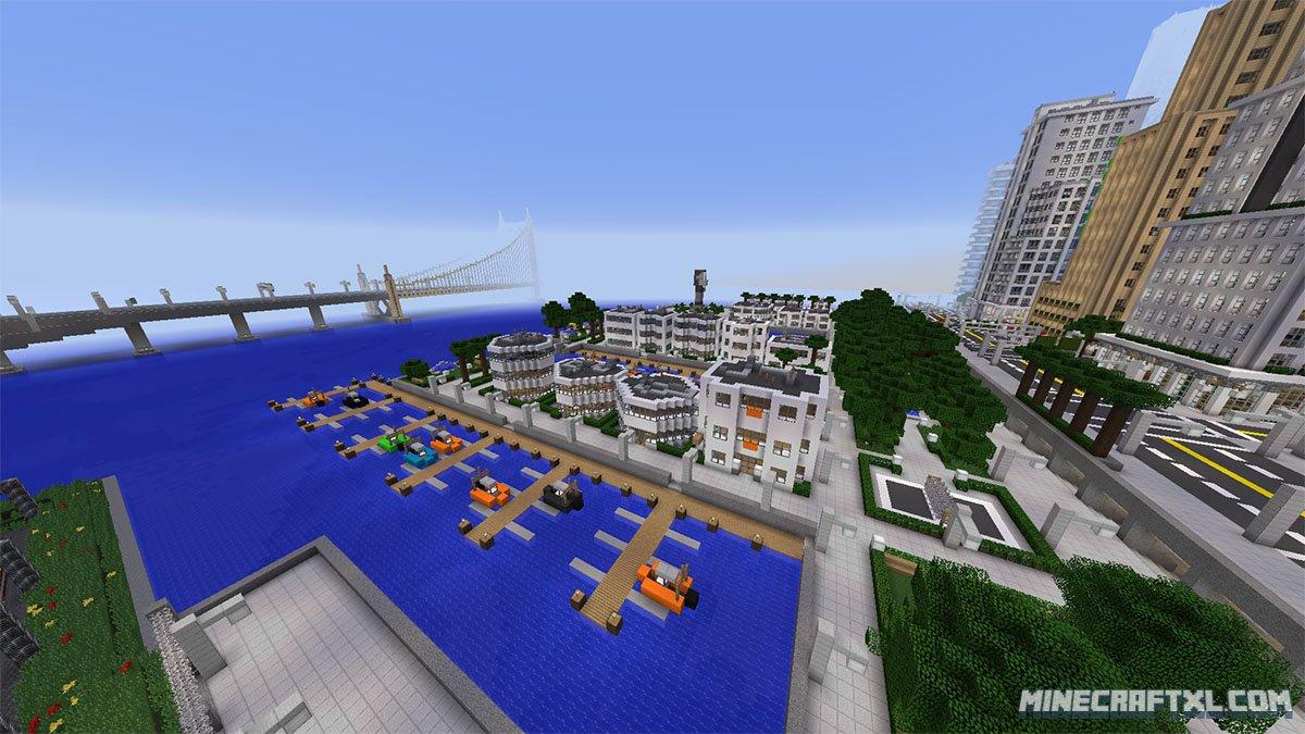 Карты для Minecraft 1 1 Город