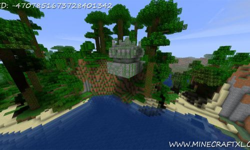 Minecraft Hanging Jungle Temple Seed: -4707851673728401342