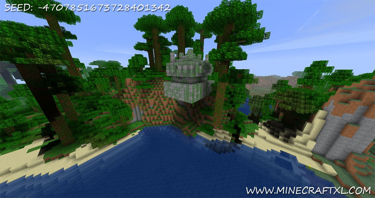 Minecraft Hanging Jungle Temple Seed 4707851673728401342
