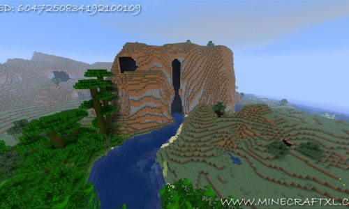 Minecraft Hollow Mountain Seed: 6047250834192100109